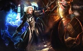 Picture horns, shield, Diablo 3, crusader