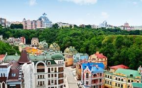 Picture the city, photo, street, home, top, Ukraine, Kiev