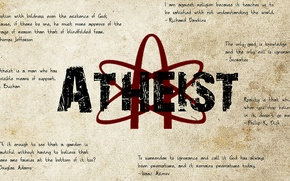 Wallpaper atheism, unbelief, statements, atheist