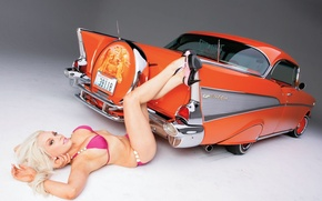 Wallpaper Moto, tuning, low, rider, girl, cadillac, tuning, auto