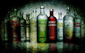Picture GLASS, BOTTLE, LIQUID, BRAND, VODKA, ALCOHOL, ABSOLUT, TYPES