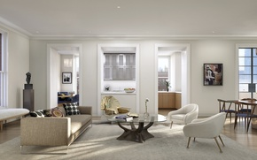 Picture design, style, interior, city apartment, living space