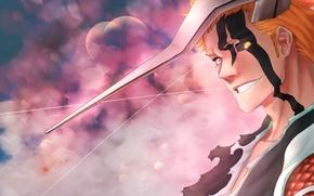 Picture battlefield, game, Bleach, anime, power, Kurosaki Ichigo, warrior, manga, japanese, oriental, powerful, strong, muscular, shinigami, …