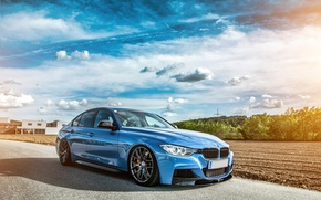 Picture BMW, tuning, 335i, F30, stance
