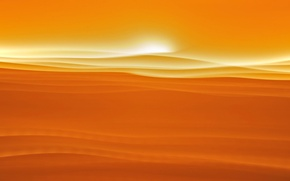 Picture sand, the sky, the sun, clouds, sunset, hills, desert, barkhan, dune