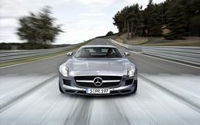 Picture cars, mercedes benz sls amg cars, Mercedes, auto, road, machine
