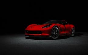 Picture car, red, Chevrolet Corvette, Corvette