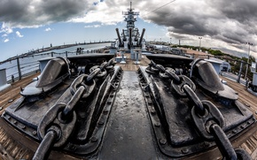 Picture weapons, ship, USS Missouri