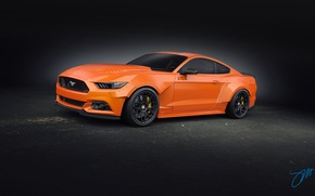 Picture Mustang, Ford, Orange, Front, RTR, Tuning, 2015