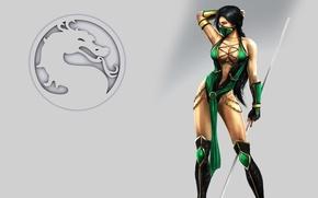 Wallpaper girl, sign, body, Mortal Kombat, pole