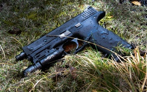Picture gun, weapons, Smith & Wesson, M&P9