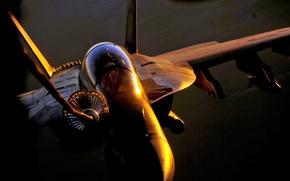 Wallpaper pilots, hose, f/a-18, refueling, the sun, bomb
