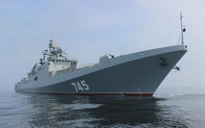 Picture sea, ship, nose, frigate, head, project 11356, guard, Admiral Grigorovich