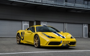 Picture Ferrari, 458, Special, yellow