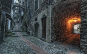 Picture background, widescreen, Wallpaper, street, Windows, home, pavers, the door, lantern, arch, wallpaper, house, widescreen, background, …