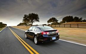 Picture the sky, Road, Black, Chevrolet, Machine, Sedan, Malibu, Malibu
