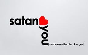 Picture love, minimalism, heart, satan