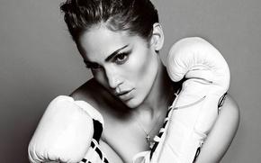 Picture makeup, actress, gloves, singer, Jennifer Lopez, Jennifer Lopez
