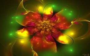 Picture flowers, abstraction, fractal