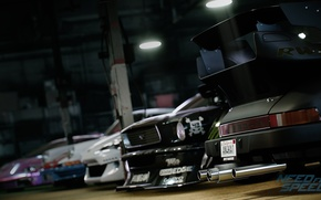 Picture tuning, cars, in the garage, Need For Speed 2015