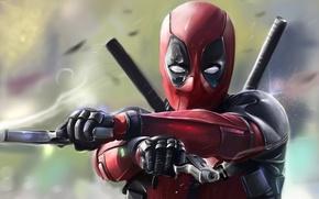 Picture Sword, Art, Deadpool, Marvel, Deadpool, Wade Wilson, Comics