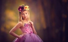 Picture dress, girl, wreath, meg bitton