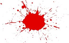 Picture white, red, blot