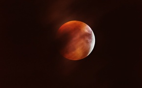 Picture the moon, satellite, Eclipse, Moon, bloody