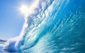 Picture sea, water, the sun, wave