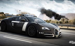 Picture Bugatti Veyron, Need for Speed, nfs, police, 2013, pursuit, Rivals, NFSR