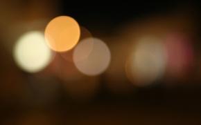 Picture night, blur, kight, Warmlights