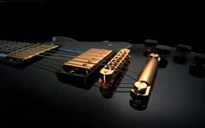 Wallpaper strings, tool, electric guitar