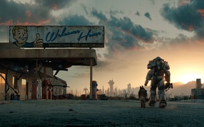 Picture dog, the atmosphere, Armor, Bethesda Softworks, Equipment, Bethesda Game Studios, Fallout 4, Power Armor