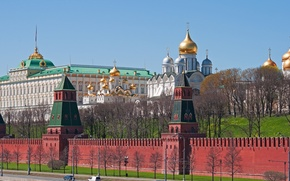 Picture Moscow, temple, The Kremlin, Russia, capital, The Kremlin wall