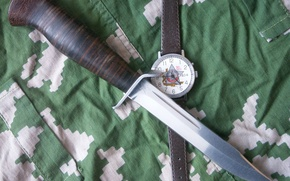 Picture weapons, watch, Knife, camouflage, Air, Shtrafbat