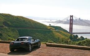 Wallpaper Tesla, bridge, nature