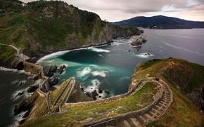 Picture road, sea, mountains, bridge