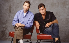 Picture the series, actors, Charlie Sheen, John Cryer, Two and a half men, Two and a …