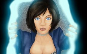Picture look, art, blue eyes, the gap, BioShock Infinite, Elizabeth