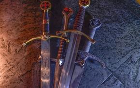 Picture steel, sword, blade, blade, Crusader
