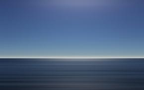 Picture sea, minimalism, excerpt, blue