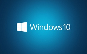 Picture Windows, Blue, Windows 10