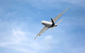 Picture The sky, The plane, Aviation, A380, Airbus, In the air, Flies