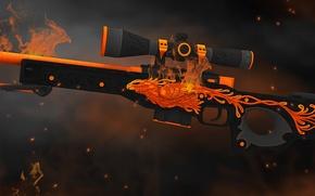 Picture flame, bird, smoke, spark, heat, phoenix, paint, awp, workshop, cs go, gunsmith