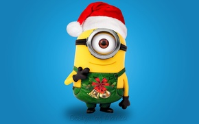 Picture New Year, Christmas, Santa, Christmas, cartoon, Xmas, cute, santa, minion, minion, Design by Marika