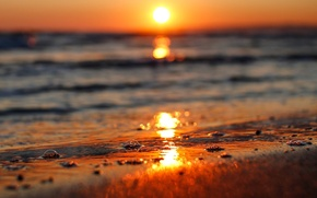 Picture sea, water, the sun, sunset, nature, river, background, widescreen, Wallpaper, wave, wallpaper, sea, widescreen, background, ...