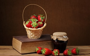 Wallpaper berries, still life, strawberry, jam
