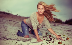 Picture sand, girl, jeans, photographer, girl, photography, photographer, Brian Storey, Brielle