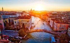 Picture Italy, sunrise, Venice, Grand Canal, The Bridge Academy