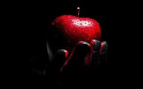 Picture drops, Apple, glove